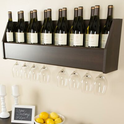 Prepac Floating 18 Bottle Wall Mount Wine Rack