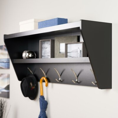 Prepac Floating Entryway Shelf & Coat Rack