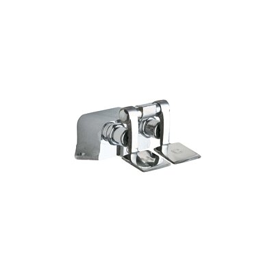 Chicago Faucets Short Combination Pedal Valves with NAIAD Self Closing Cartridges in Rough Chrome
