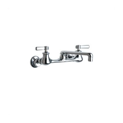540 Double Handle Wall Mount Bridge Kitchen Faucet with 6