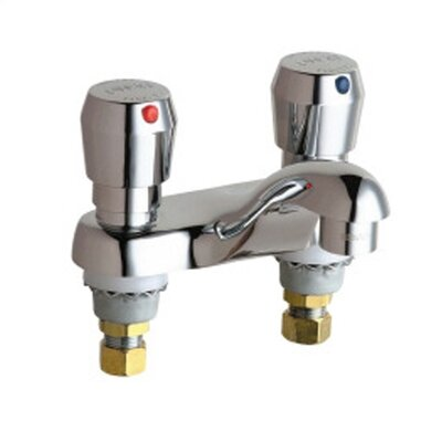 Metering Bathroom Faucet with Double Metering Handles - 802-V665CP