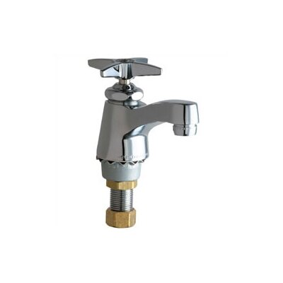 Chicago Faucets Single Hole Cold Water Bathroom Faucet with Single Lever Handle