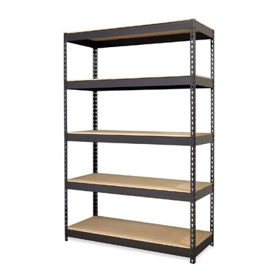 "Hirsh Industries Steel Five-shelf Unit, 48""x18""x72"", Black"