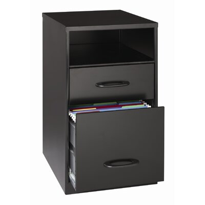 "Hirsh Industries 18"" Deep Two Drawer Organizer in Black"