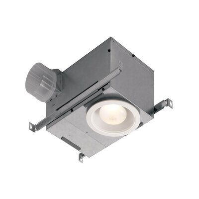 Recessed 70 CFM Bathroom Fan with Light