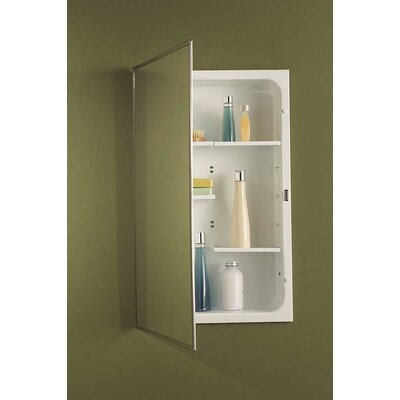 Specialty Recessed Cabinet with Three Shelves in Rust Resistant and White Baked Enamel