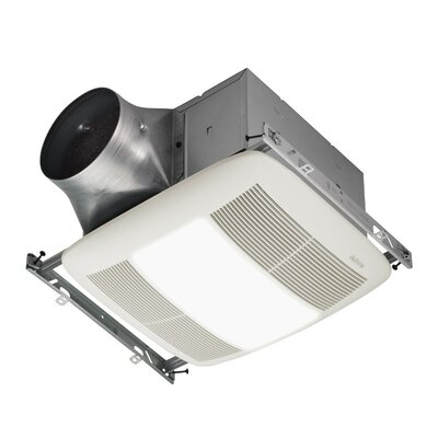 Broan Nutone Ultra X1 110 CFM Energy Star Multi-Speed Series Ceiling Fan Light