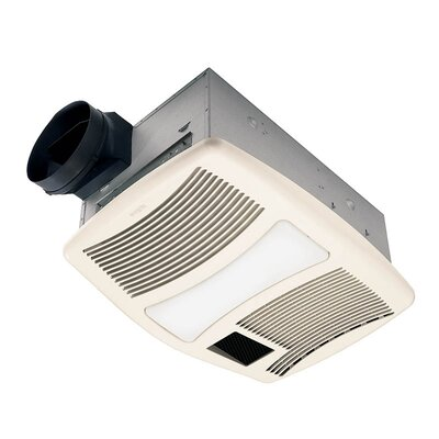 Ultra Silent 110 Cfm Exhaust Bathroom Fan With Heater And Light Wayfair