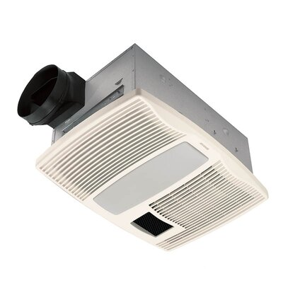 Bathroom Heater  Light on Ultra Silent 110 Cfm Bathroom Fan With Heater And Light   Wayfair