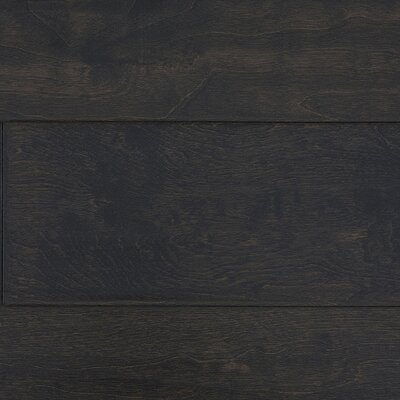 "Jasper Distressed Handscraped 6"" Engineered Maple in Dark Chocolate"