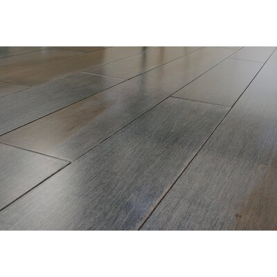"""Jasper Stained Semi-Gloss 4-1/4"""" Solid Maple Flooring in Charcoal/Natural"""