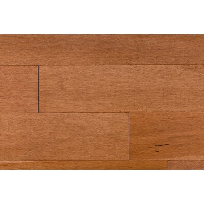 "Jasper Stained Semi-Gloss 4-1/4"" Solid Maple Flooring in Copper/Natural"
