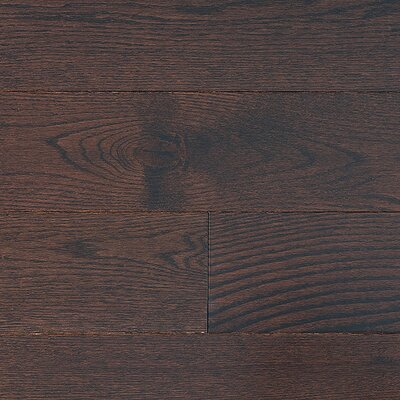 "Jasper Stained Semi-Gloss 4-1/4"" Solid Red Oak Flooring in Moka/Folk"