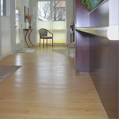 "Yanchi Strand Woven 3-3/4"" Solid Bamboo Flooring in Natural"