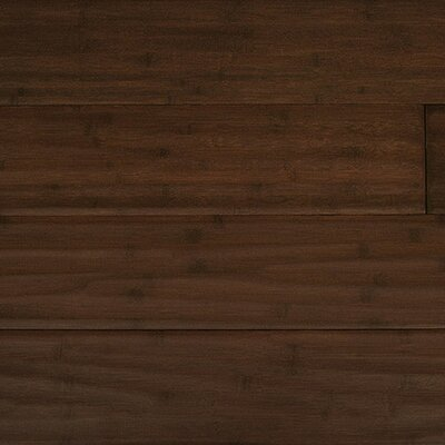 "Yanchi Handscraped 6"" Solid Bamboo Flooring in Espresso"