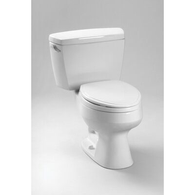 Carusoe 1.6 GPF Elongated 2 Piece Toilet with Bolt Down Lid