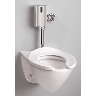 Toto Commercial Wall Mount Flushometer 1.28 GPF Elongated Toilet Bowl Only with Top Spud