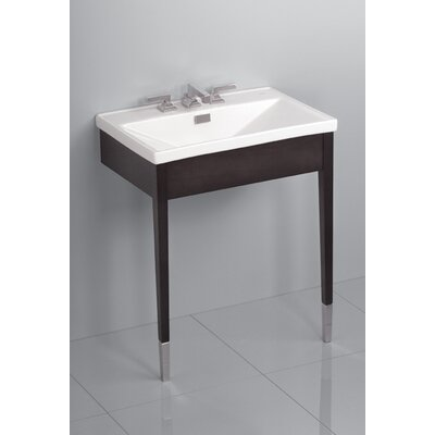 Toto Lloyd Wood Console Bathroom Sink with Luxurious Deep Sink
