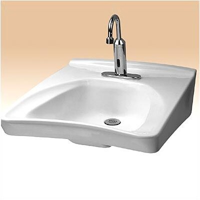 "Toto Wall Mount Wheel Chair Access Sink with 11"" Centers and Soap Dispenser Hole Drilling"