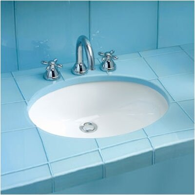 Dantesca ADA Compliant Undermount Bathroom Sink with SanaGloss Glazing - LT597G