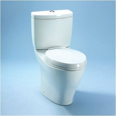Toto Aquia II Dual Flush 1.6 GPF / 0.9 GPF Elongated 2 Piece Toilet