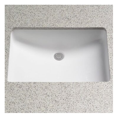 Toto Rimless ADA Compliant Undermount Bathroom Sink with SanaGloss Glazing