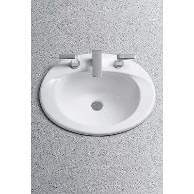 Toto Supreme ADA Compliant Self Rimming Bathroom Sink with SanaGloss Glazing