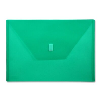 "Lion Office Products Poly Envelope,Hook and Loop Closure,13""x9-3/8"",./Green"