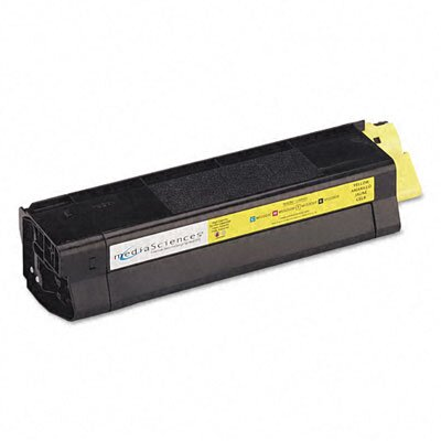 Media Sciences MS5000Y (42127401) Toner Cartridge, High-Yield, Yellow
