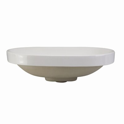 DecoLav Classically Redefined Semi Recessed Oval Bathroom Sink
