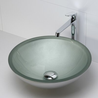 Translucence Round 19mm Glass Vessel Bathroom Sink - 1019T