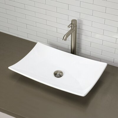 Classically Redefined Rectangular Vessel Bathroom Sink - 1443-CWH