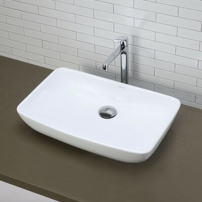 Classically Redefined Rectangular Vessel Bathroom Sink - 1445-CWH