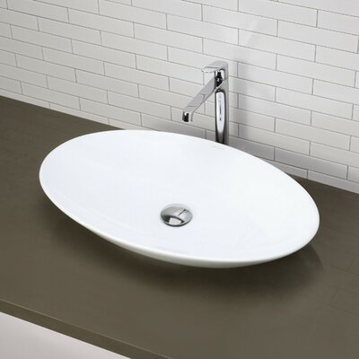 Classically Redefined Oval Vessel Bathroom Sink - 1448-CWH