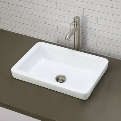 Classically Redefined Semi-Recessed Bathroom Sink - 1453-CWH
