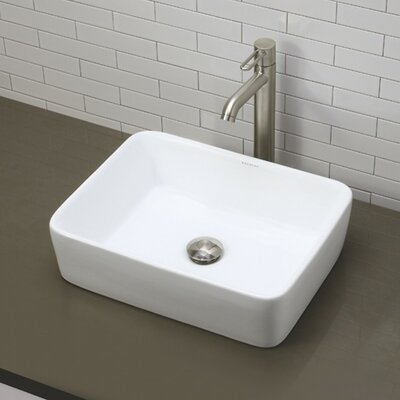 Classically Redefined Rectangular Vessel Bathroom Sink - 1454-CWH