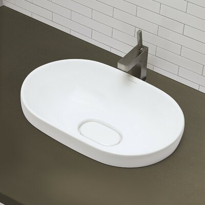 Classically Redefined Semi Recessed Oval Bathroom Sink - 1457-CWH