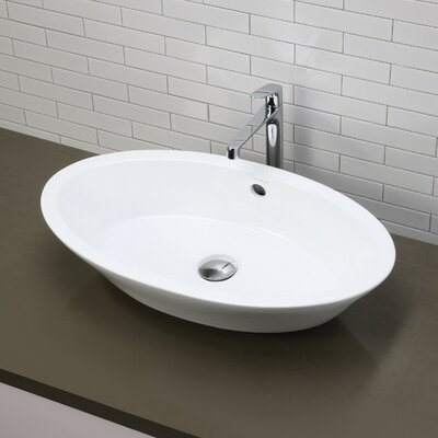 Oval Sink Bathroom : ... Classically Redefined Oval Vessel Bathroom Sink & Reviews Wayfair