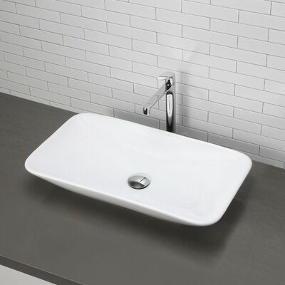 Classically Redefined Rectangular Vessel Bathroom Sink - 1479-CWH