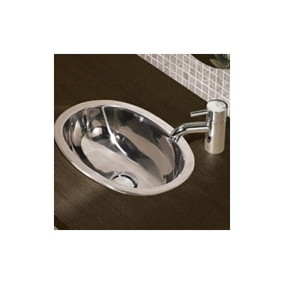 DecoLav Simply Stainless Oval Bathroom Sink