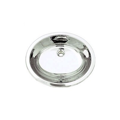 DecoLav Simply Stainless Drop-In/Undermount Bathroom Sink with Overflow