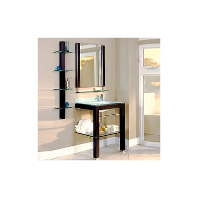 "DecoLav 27.5"" Wall-Mounted Espresso Vanity Set"