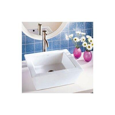 DecoLav Classically Redefined Rectangular Ceramic Vessel Bathroom Sink with Overflow