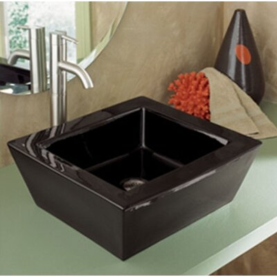 "DecoLav Classically Redefined 18""x16"" Rectangular Ceramic Vessel Sink with Overflow"