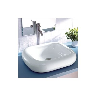 Classically Redefined Rectangular Ceramic Vessel Bathroom Sink - 1480-CWH
