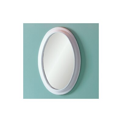 DecoLav Waterfront Oval Mirror in White