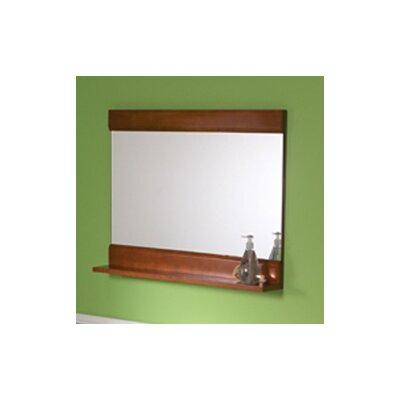 DecoLav Sag Harbour Mirror with Display Shelf in Cherry Finish