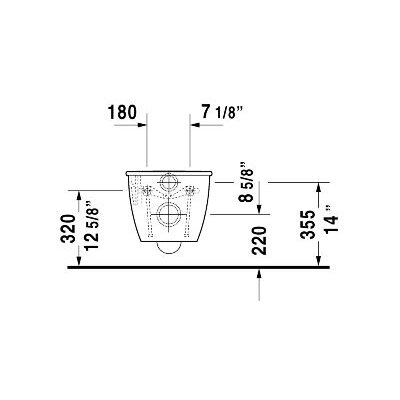 Duravit Darling New Wall Mounted Round 1 Piece Toilet