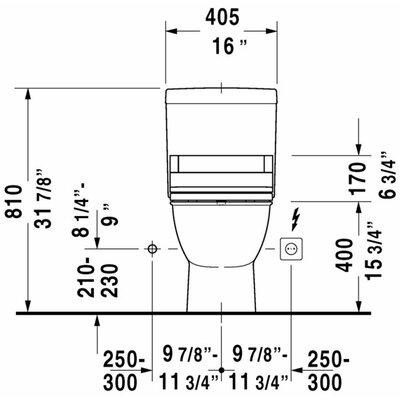 Duravit Darling New Elongated 2 Piece Toilet Bowl