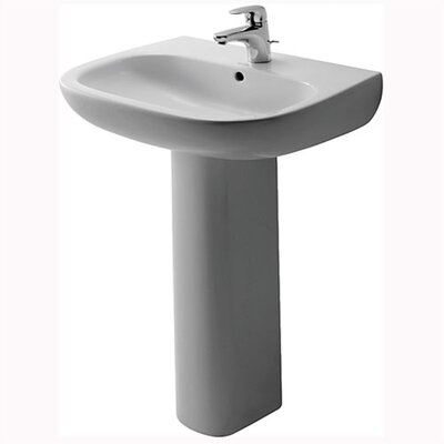 D-Code Pedestal Bathroom Sink Set with Overflow - D40007